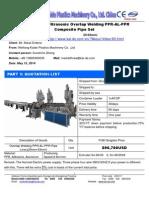 Quotation for 20-63mm PPR-AL-PPR Overlap Welding Pipe Machine-Sunshine KAIDE