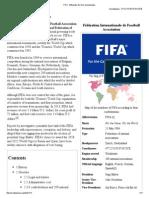 FIFA - Wikipedia, The Free Encyclopedia