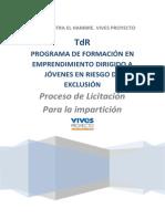 TdR_impartición Programa Formativo