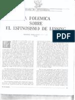 """Manuel F. Lorenzo, """"La polémica sobre el espinosismo de Lessing"""", El Basilisco nº 1, 1989."""