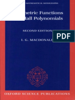I. G. Macdonald Symmetric Functions and Hall Polynomials Oxford Mathematical Monographs 1995