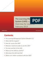 2013 LMS Moodle Student Overview