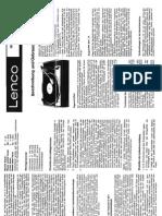 Lenco L75.Owners Manual