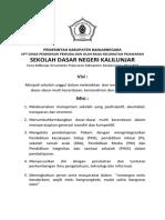 Visi Misi SDN Kalilunjar, UPT Dindikpora Kec. Pejawaran Kab. Banjarnegara