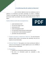 Evaluación de La Información de Salud en Internet
