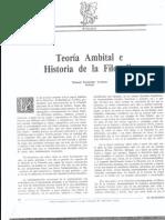 """Manuel F. Lorenzo, """"Teoría Ambital e Historia de la Filosofía"""", El Basilisco nº 13, 1992."""
