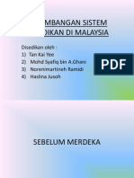 1 Perkembangansistempendidikandimalaysia 130213052046 Phpapp01