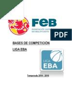 Bases de Competición Liga EBA - Temporada 2014/15