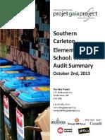 Southern Carleton Elementary - October 2, 2013 Waste Audit Summary