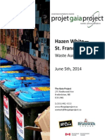 The Gaia Project - Hazen White Saint Francis Waste Audit Summary, June 5th, 2014