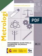 QU-003 Procedimiento Para La Calibración de PH Metros