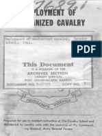 Employment of Mechanized Cavalry - 1944