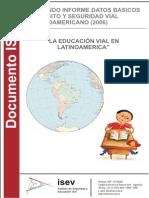 2º Informe Datos Basicos Latinoamericano Educacion Vial