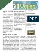The McGill Vegan, Issue 1, Winter 2008