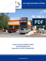 Single Tenant Triple Net Lease Dunkin Donuts for Sale