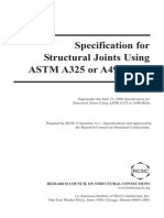 Specification for Structural Joints Using ASTM A325 or A490 Bolts Index