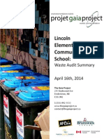 Summary of Lincoln Elementary Community Waste Audit on April 16th, 2014
