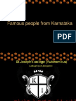 Famous People of Karnataka