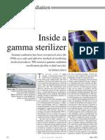 Inside a gamma sterilizer