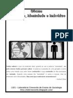 Cartilha - Oficina Sociedade, Identidade e indivíduo // André de Oliveira Gerônimo
