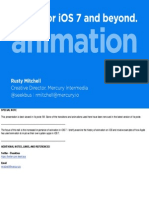 Rusty Mitchell - @Seekbus - Animation to Improve Usability - Renaissance
