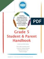 Grade 5 Student and Parent Handbook 2014-2015