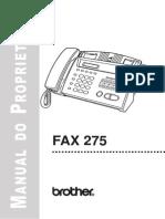 Manual Do Usuário Fax-275