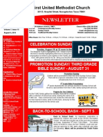 FUMC Newsletter for Aug. 6, 2014