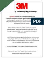 3M Chemistry QC Internship Opportunity 2014 (2)