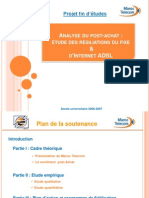 Analyse Du Post-Achat Soutenance