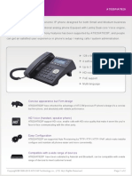 ATCOM AT820P IP Phone Datasheet