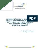 053 Comunicação Pública e Marketing Político Na Administração Pública Estudo Dos Casos Da Utilização Dos Sites Das Prefeituras de Natal e Mossoró