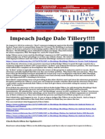 Call to Impeach Judge Dale Tillery!!!