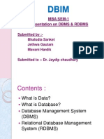 Presentation on DBMS