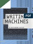 Hayles Writing Machines