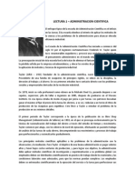 Lectura 1 Administracion Cientifica