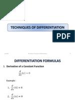 Ch 2B Technique of Differentiation