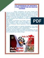 Noticia Fiestas Patrias