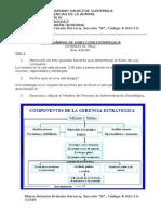CUESTIONARIO PARCIAL ADMIN IV MA Cuestionario Dirección Estrategica, Según Charles W. Hill