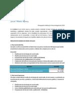 Presupuesto Válido Por El Mes de Agosto de 2014