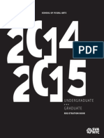 SVA 2014 2015 Undergraduate and Graduate Registration Book