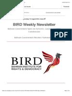 BIRD Newsletter #7
