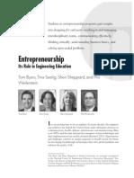 Entrepreneurship and Engineering