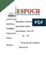 TRABAJOnEGOCIOS150ejerciciodeestadistica Docx1 120121174706 Phpapp01