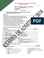 v3 Examen de Admitere Amg 2014 (1) Postliceala Sfantul Apostol Andrei