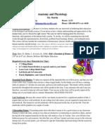 anatphys syllabus