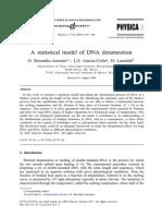 Mecanica Estadistica de Desnaturalizacion de ADN