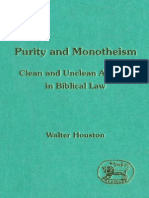 Walter Houston - Purity and Monotheism Clean and Unclean Animals in Biblical Law