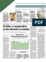 Dólar Se Mantendría Al Alza Durante La Semana_El Comercio 20-08-2014