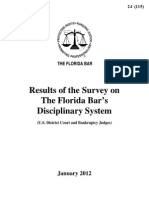 Florida Bar 2012 Hawkins Commission Report, Survey Results Federal Judges